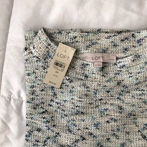 NWT LOFT Petite Shimmer Boucle Sweatshirt